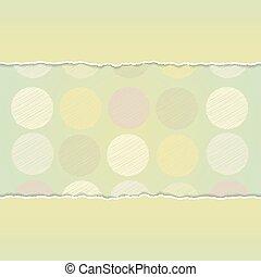 vettore, fondo, scheda, scarabocchio, puntino, polka, verde, disegno, vendemmia, fondo.