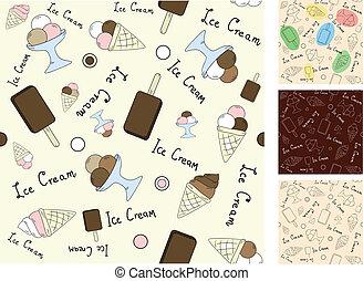 vettore, fondo, seamless, gelato