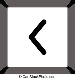 vettore, freccia sinistra, icona