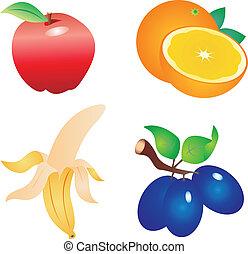 vettore, frutta