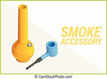 vettore, fumo, illustrazione, accessori, 3d