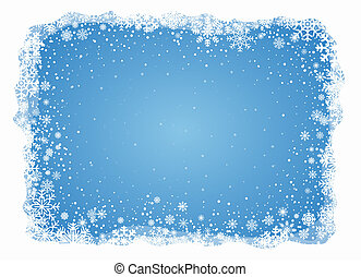 vettore, gelido, fiocchi neve, fondo