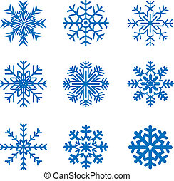 vettore, gelido, fiocchi neve