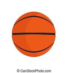 vettore, gioco, pallacanestro, club, game., equipment., ricreazione, isolato, articolo, sport palla, cerchio arancia, elemento, icona