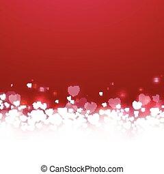 vettore, giorno valentines, scheda