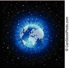 vettore, globo mondo, concetto, disegno