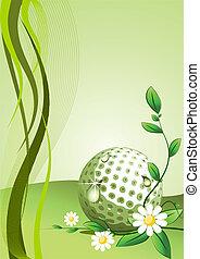 vettore, golf, fondo