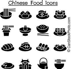 vettore, grafico, cibo cinese, illustrazione, progetto serie, icona