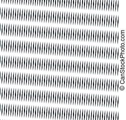 vettore, grafico, sfondo., effect., trance, bianco, modello, creativo, moire, sfondo nero, monocromatico, illusione ottica