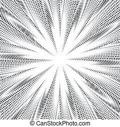 vettore, grafico, sfondo., effect., trance, modello, creativo, moire, sfondo nero, monocromatico, bianco, illusione, ottico