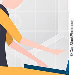 vettore, grey., investimento, concetto, marketing., astratto, mestiere, illustrazione, strategia, carta, taglio, forex, commercio, commerciante, bianco, affari, tecnologia, bacgkround