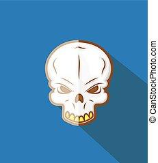 vettore, halloween, cranio