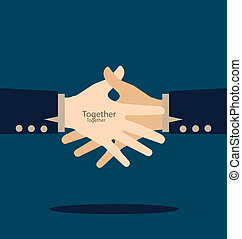 vettore, handshake., illustration.