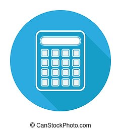 vettore, icon., illustration., disegno, appartamento, calcolatore