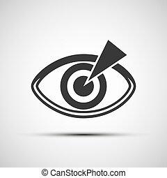 vettore, icone, di, il, occhio umano