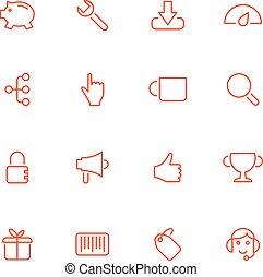 vettore, icons.