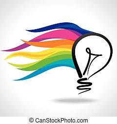 vettore, idea, creativo