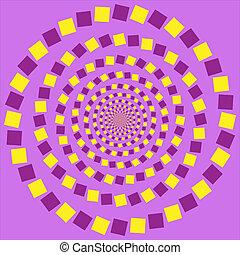 vettore, -, illusione, ottico