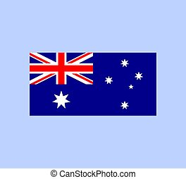 vettore, illustration., australia, flag., nazionale, australiano