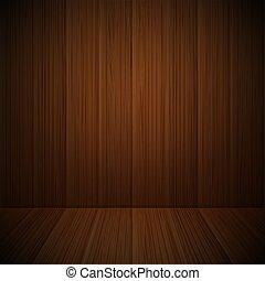 vettore, illustration., contenuto, legno, sagoma, interior.