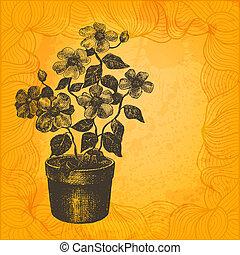 vettore, illustration., fiore