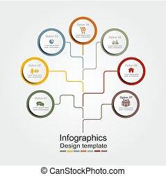 vettore, illustration., tuo, infographic, disegno, sagoma, posto, data.