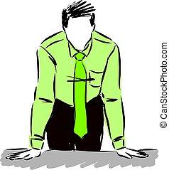 vettore, illustration., uomo affari
