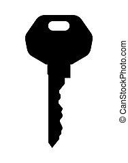 vettore, illustrazione, chiave