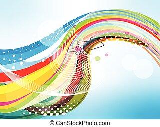 vettore, illustrazione, colorito