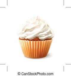 vettore, illustrazione, cupcake