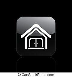 vettore, illustrazione, di, casa, singolo, icona