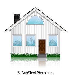 vettore, illustrazione, di, icona casa