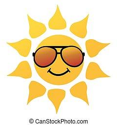 vettore, illustrazione, di, il, sole
