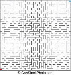 vettore, illustrazione, di, labirinto