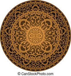 vettore, illustrazione, di, marrone, tappeto