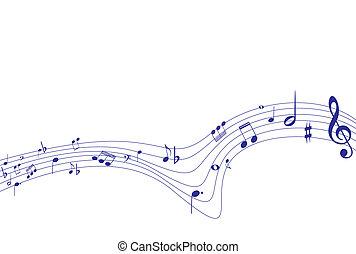 vettore, illustrazione, di, musica, fondo
