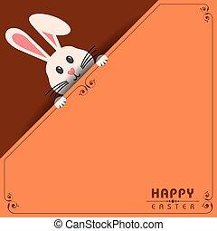 vettore, illustrazione, di, pasqua felice, cartolina auguri