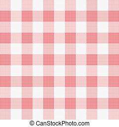 vettore, illustrazione, di, rosso, picnic, stoffa