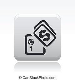 vettore, illustrazione, di, singolo, isolato, banca, icona