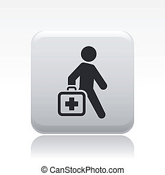 vettore, illustrazione, di, singolo, isolato, medico, icona