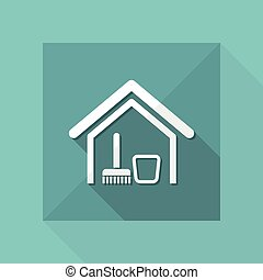 vettore, illustrazione, di, singolo, isolato, pulito, icona casa