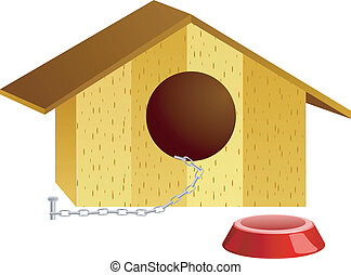 vettore, illustrazione, doghouse