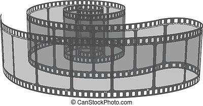 vettore, illustrazione, film