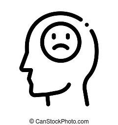 vettore, illustrazione, icona, persona, contorno, ...