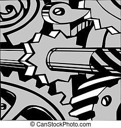 vettore, illustrazione, meccanismo