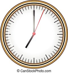 vettore, illustrazione, orologio