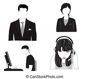 vettore, illustrazione, persone