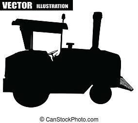 vettore, illustrazione, trattore