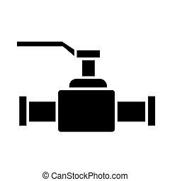 vettore, illustrazione, valvola, isolato, segno, 2, sfondo nero, icona
