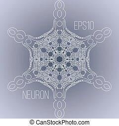 vettore, immagine, neurone, fondo